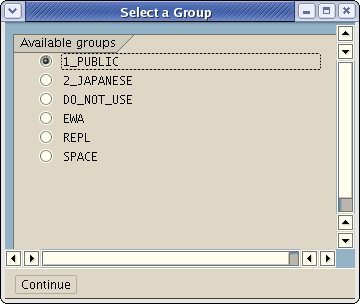 screenshot of the group selection popup in OSS1