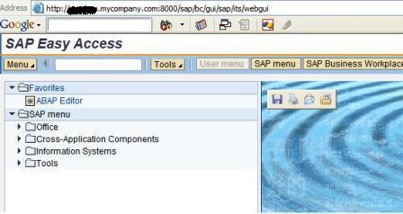 Running your first ITS WebGUI application in SAP NetWeaver