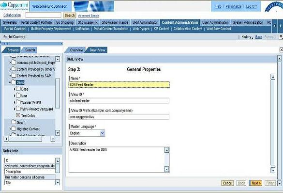 implementing a rss feed reader in the portal sap blogs