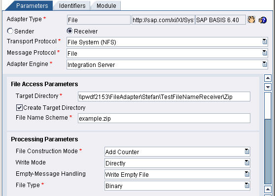 Working with the PayloadZipBean module of the XI Adapter