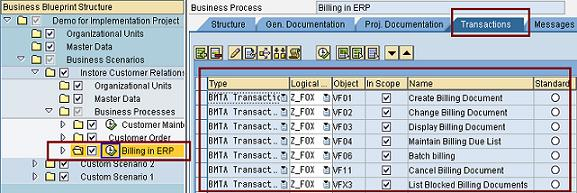 Sap solution manager 40 project management business blueprint select any of the business process taken from bpr on left side having execution icon along with it click on transactions tab on the right side malvernweather Image collections