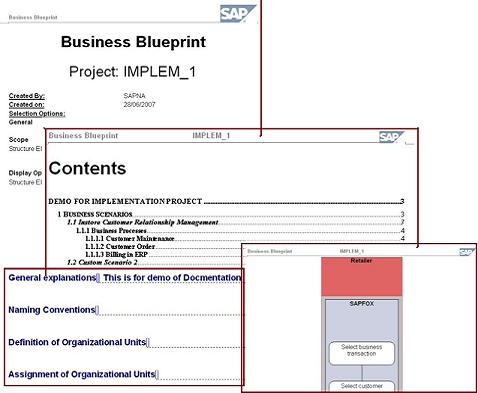 Sap solution manager 40 project management business blueprint execute the macro in the ms word file from the menu tools macro macros sapbusinessbluerpint it will automatically generate the blueprint malvernweather Images