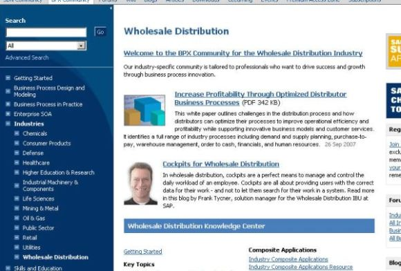 Screenshot of Wholesale Distribution