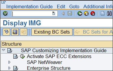 Enterprise AddOn step in the IMG