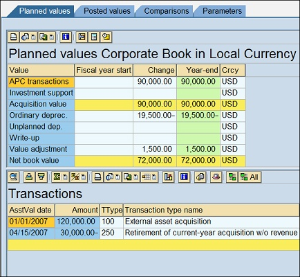 Asset Explorer showing the 2nd transaction