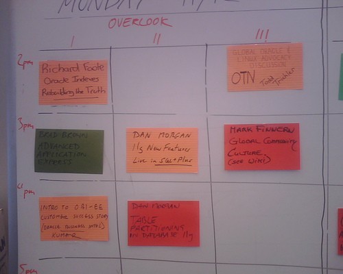 Oracle Unconference Board