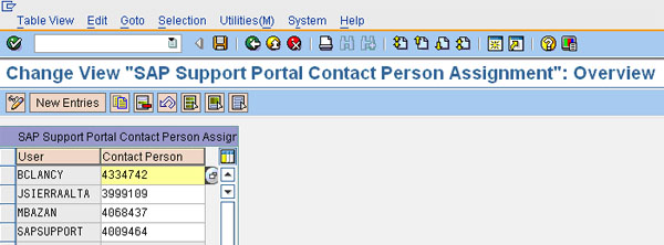Assign S-User for SAP Support Portal functionality