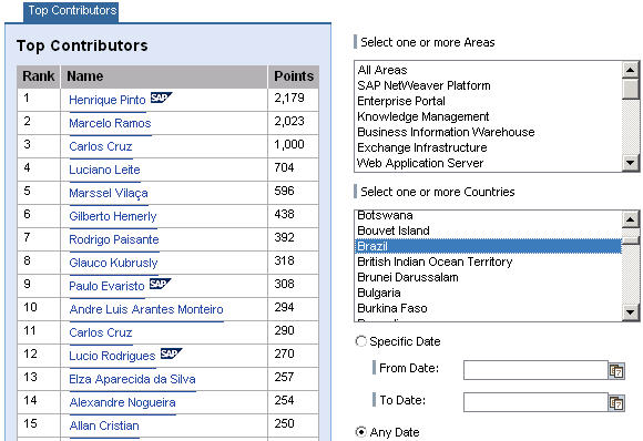 Top Contributors from Brazil March 2008