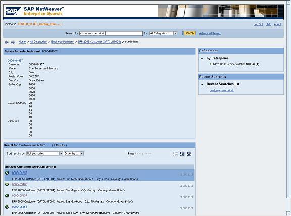 SAP NetWeaver Enterprise Search: Configuring SAP GUI for