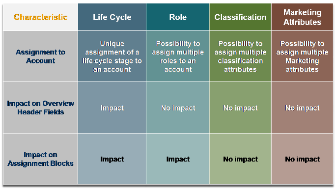 Account Life Cycle, Roles, Account Classification and Marketing Attributes