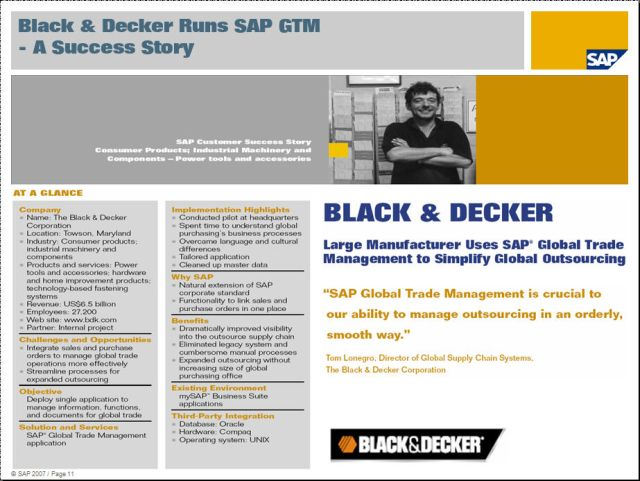GTM customer success story - Black & Decker