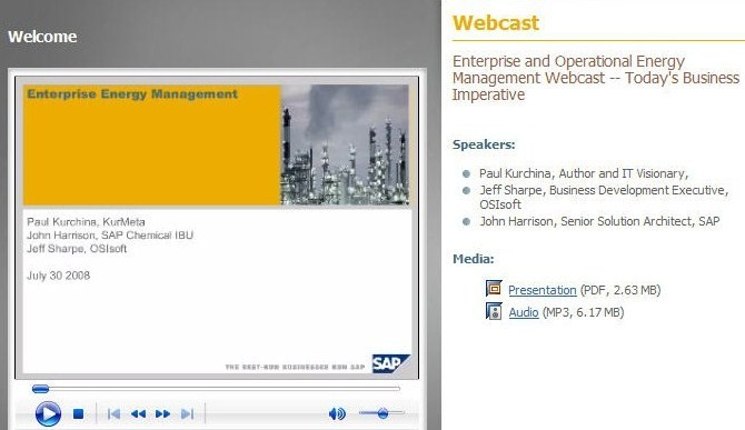Energy Management Webcast