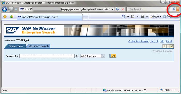 Adding Enterprise Search into Internet Explorer 7 and