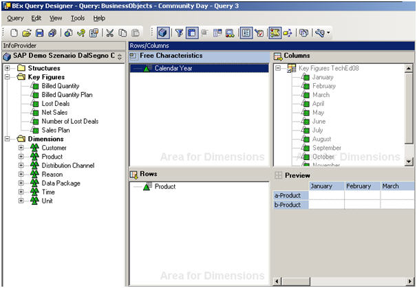 BusinessObjects and SAP Part 1 of 4 – Creating a Xcelsius