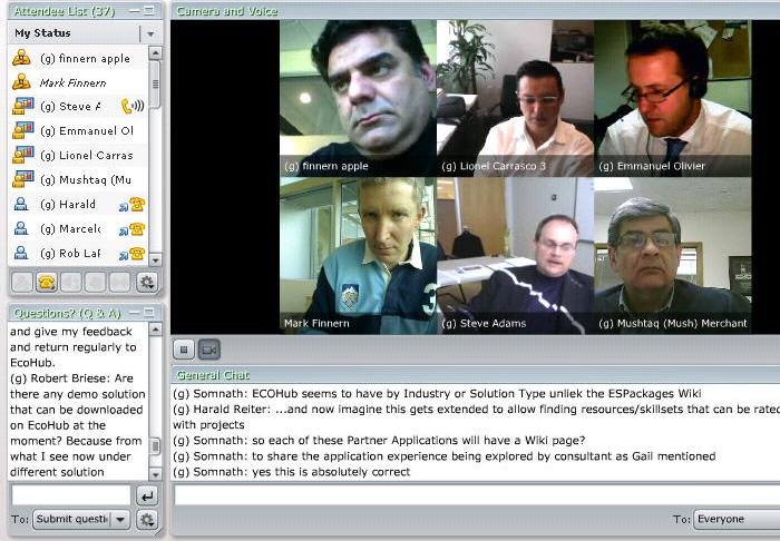 SAP EcoHub webinar screen shot