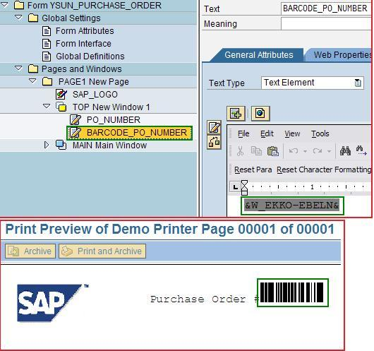 BARCODE in Smartforms: How to create customize BARCODE for