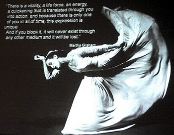 martha graham -- this expression is unique