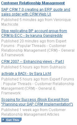 CRM Widget on BPX home page