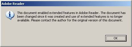 Adobe Popup Message