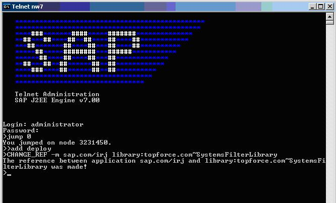 Create a refernce using telnet