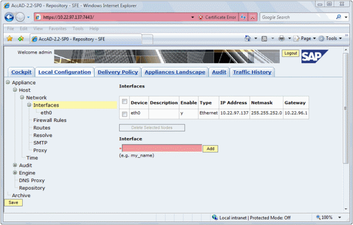 AccAD Administrator - Screenshot
