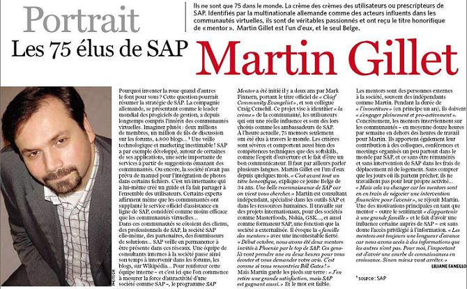 Article Excerpt featuring @mgillet and @sapmentors