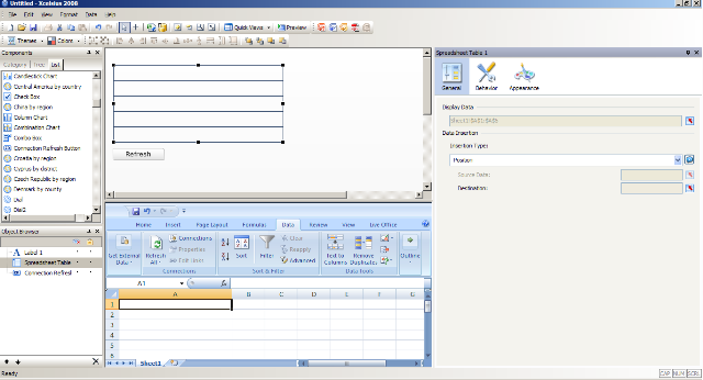 Table Creation in Xcelsius