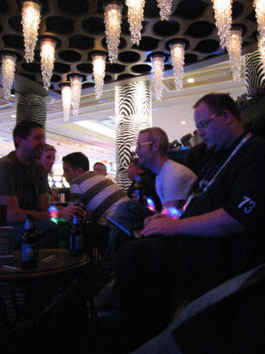 Mentors at piano bar at Venetian
