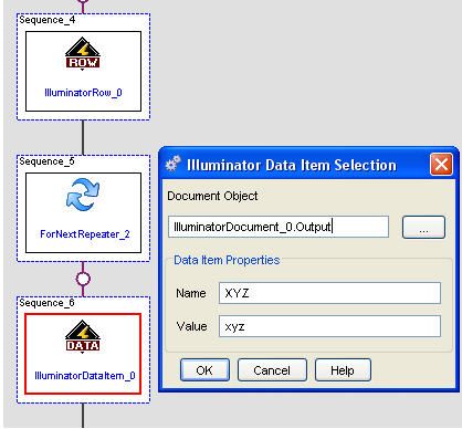 dynamically add columns rows and data to illumdocument in mii sap