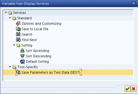 Debugger Save Variables as Test Data