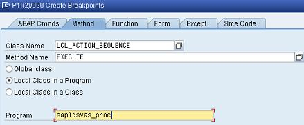 Debugger create method breakpoint