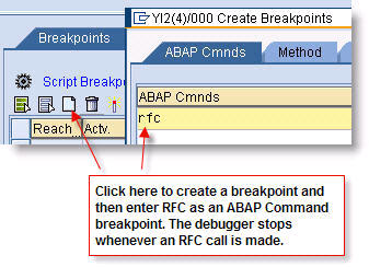 Setting a breakpoint for running scripts