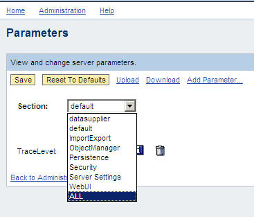 SDL Parameter dropdown ALL