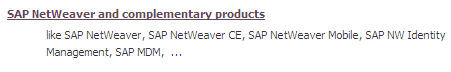 SAP Netweaver and complimentary products