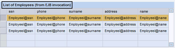 Table Layout in Application View