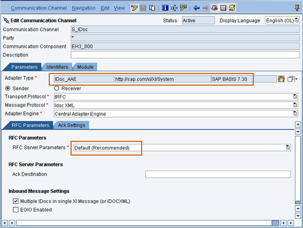 Configuring PI 7 30 Java IDoc Adapter | SAP Blogs