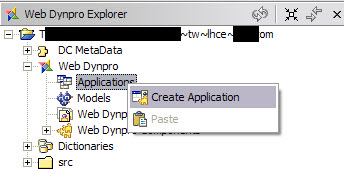 WD create application