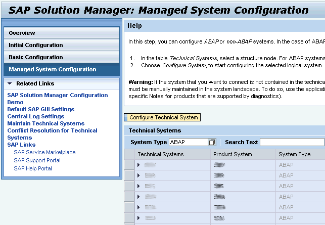 Managed System Configuration