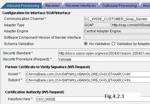 Configuring WSSE (digital signing and encryption) using SAP