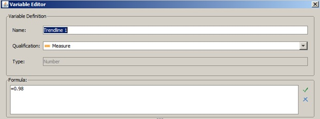how to create a variable in webi report
