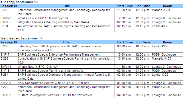 SAP TechEd Schedule 1.PNG