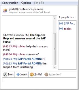 XMPP chat in the SAP Portal | SAP Blogs