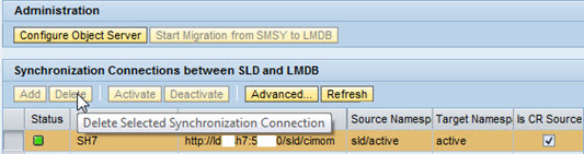 Sync Connection between SLD and LMDB