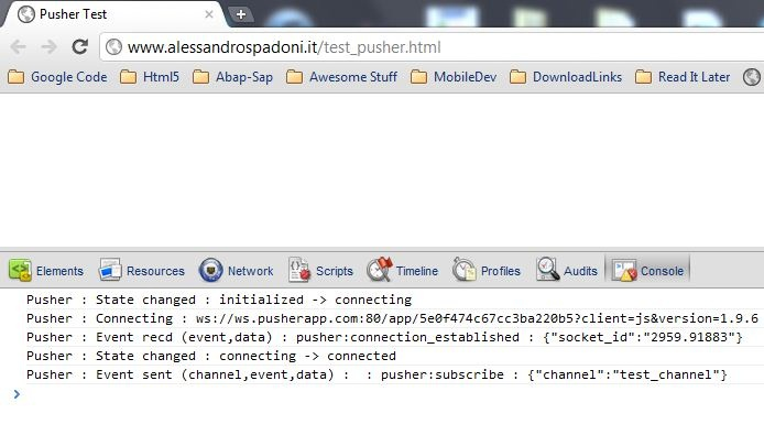 Abap and Websockets : real-time functionalities with Abap Pusher (on