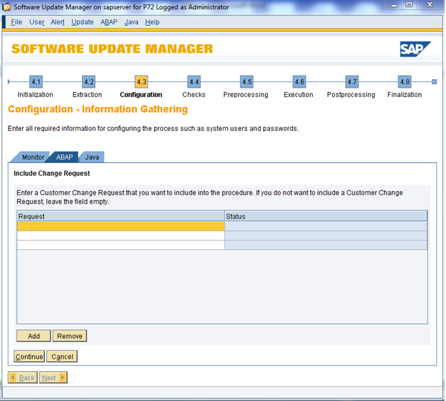 SAP Software Update Manager Tool – SPS Update Demo – Part I