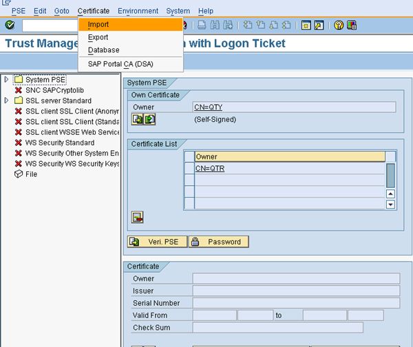 SSO Configuration Between ABAP And JAVA AS (Logon Tickets