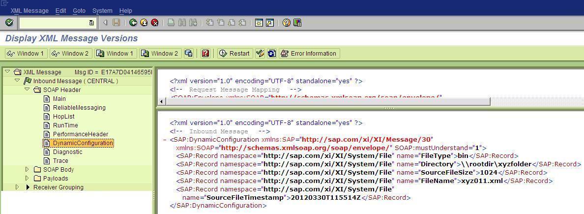 sap xi pi testing scenarios involving dynamic configuration sap blogs