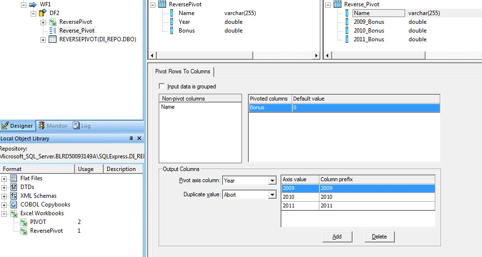 How to convert rows to columns in BO Data Services | SAP Blogs