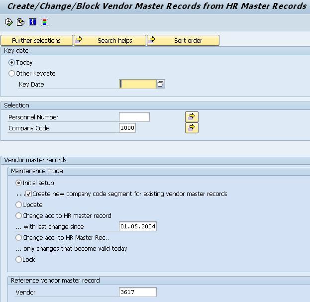 Automatic Vendor Creation/Updation Process   SAP Blogs