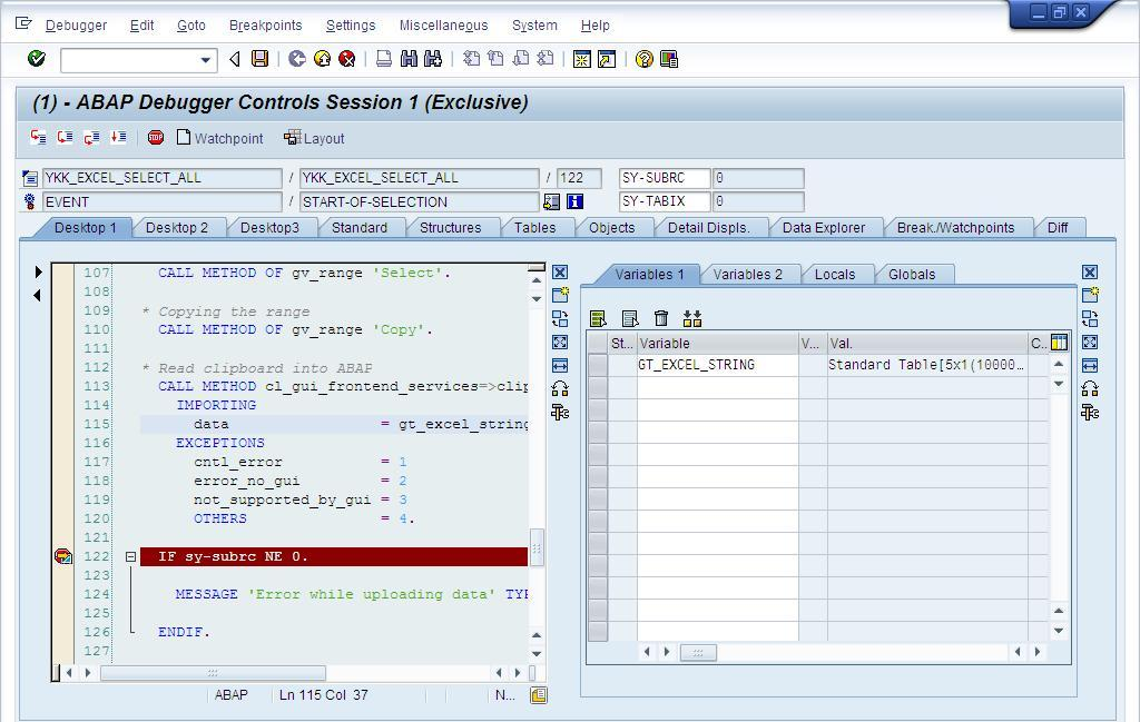 Copying data from Microsoft Excel to ABAP using OLE | SAP Blogs